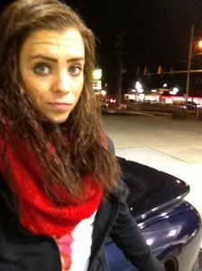 So I'll leave you on this photo of me traveling and pumping gas.  Because that is a workout.