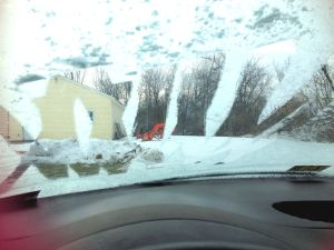Always scrape your windshield (I didn't drive like this..)