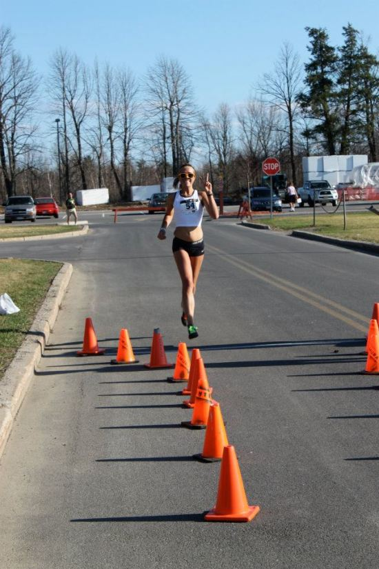 A photo of me at the same 5k the next year...