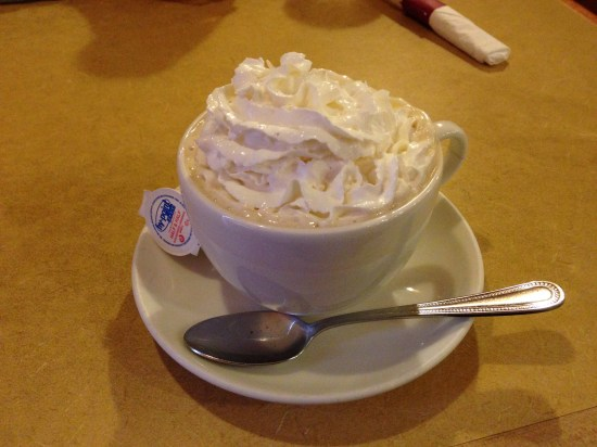"""I like having Irish coffee because then it's """"normal"""" to have whipped cream in it..."""