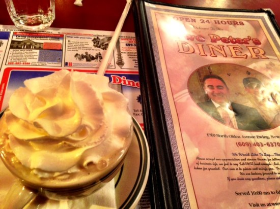 """My favorite part of the menu was the photo of the 'Two Peters""""..."""