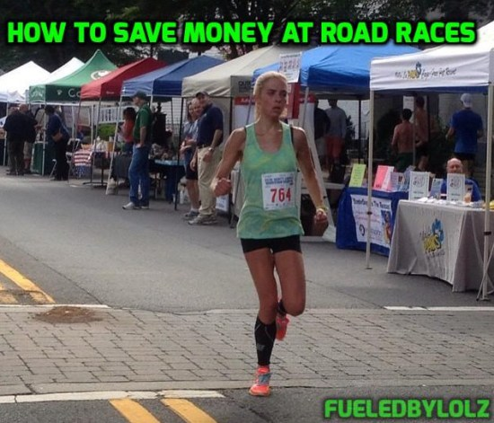 How to save money at road races