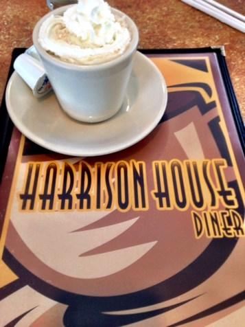 The menu has a giant coffee mug on it though!