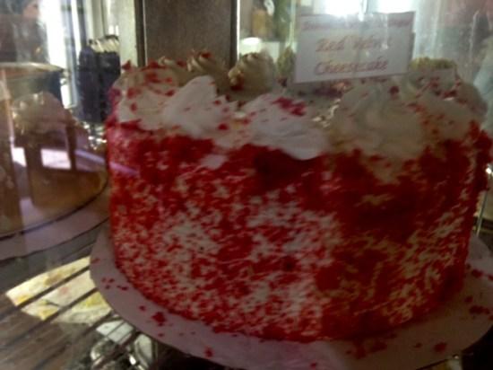 Pantagis diner red velvet cheesecake
