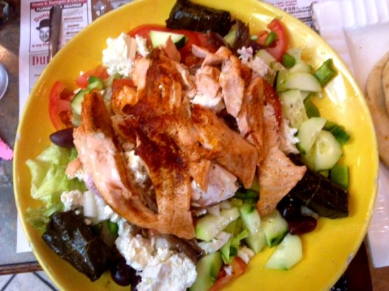 Pantagis diner salmon salad