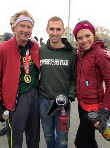Post race with my husband and father in law