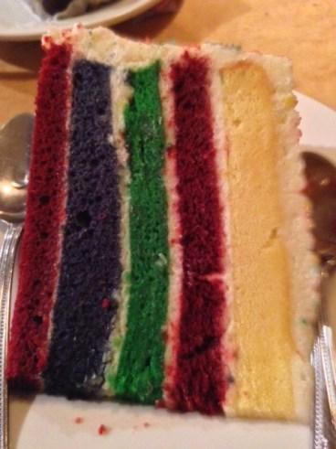 Seville Diner rainbow cake