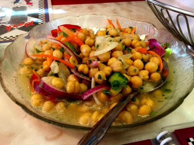 Park West Diner Chickpea salad