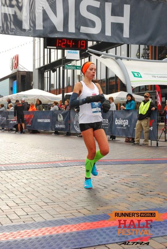 Runners World half marathon photos me runnning