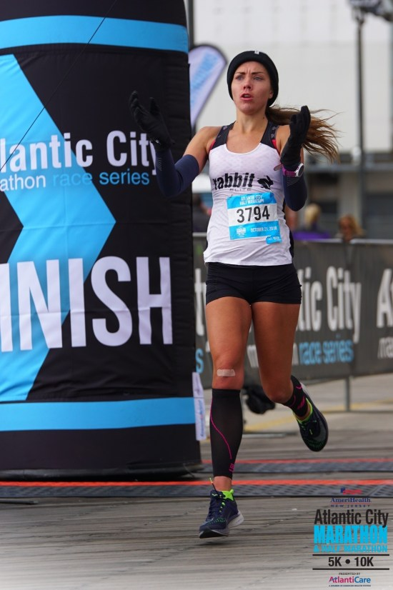 atlantic city half marathon me running