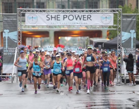 She Power Half Marathon Indianapolis me running