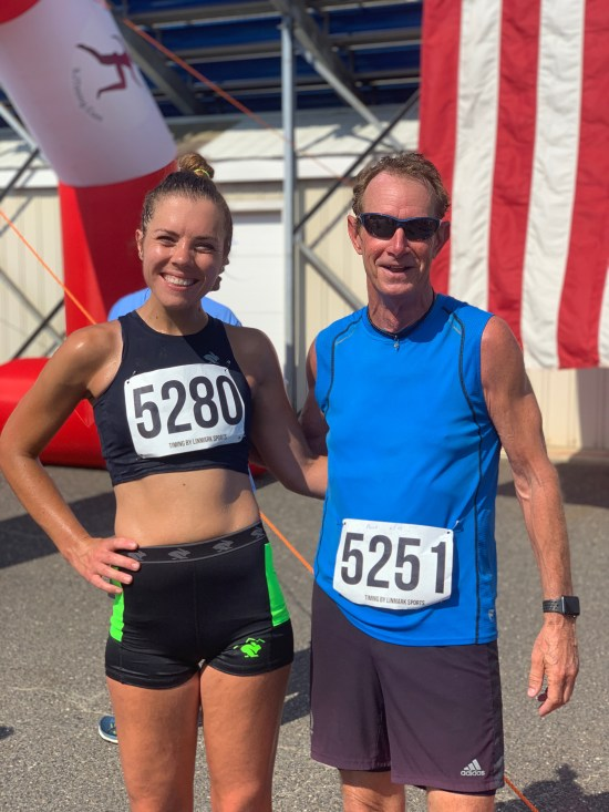 Pineland Striders 10k Tim's Dad and I