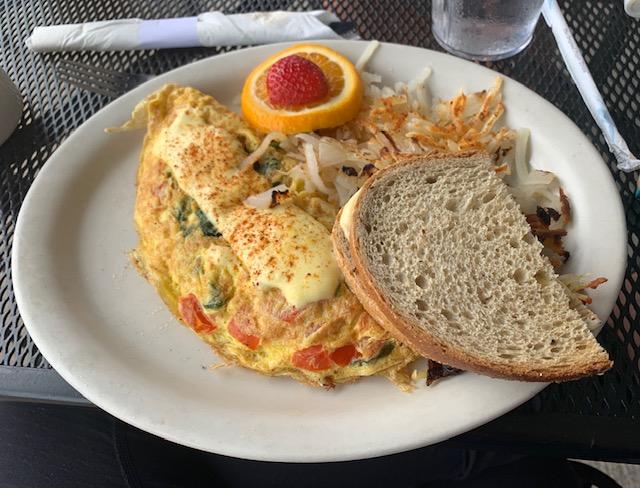 Dockside Diner Long Beach Island omelet