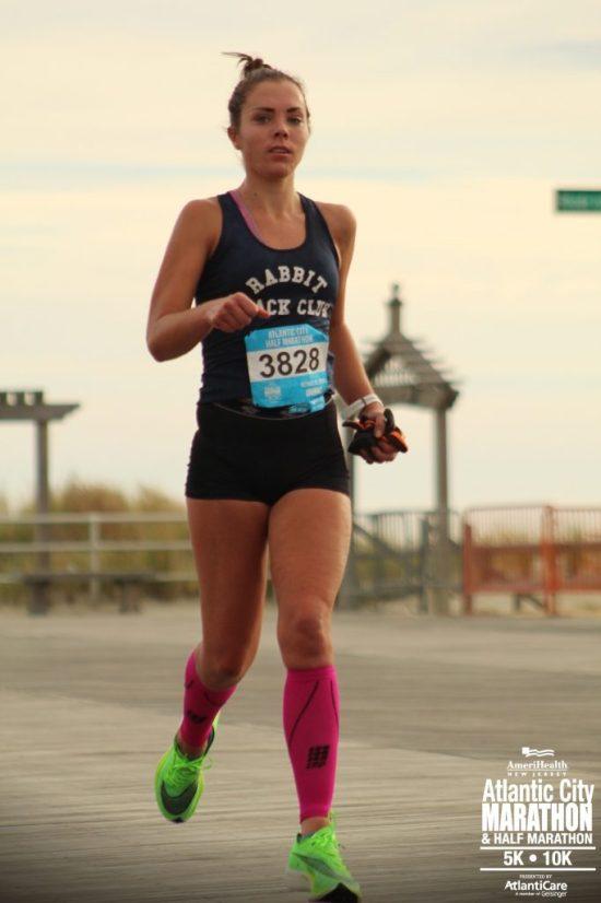 Atlantic City half marathon me running
