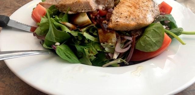 Sunrise Diner (Roselle Park) swordfish salad