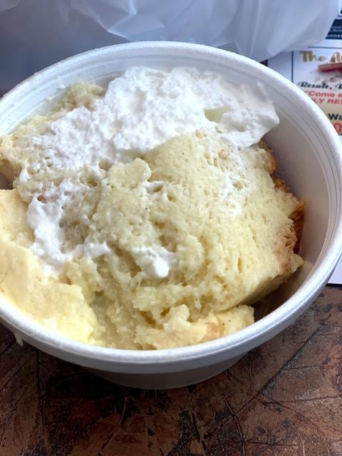 Sunrise Diner (Roselle Park) bread pudding
