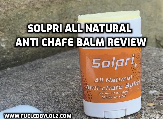 Solpri All Natural Anti Chafe Balm Review