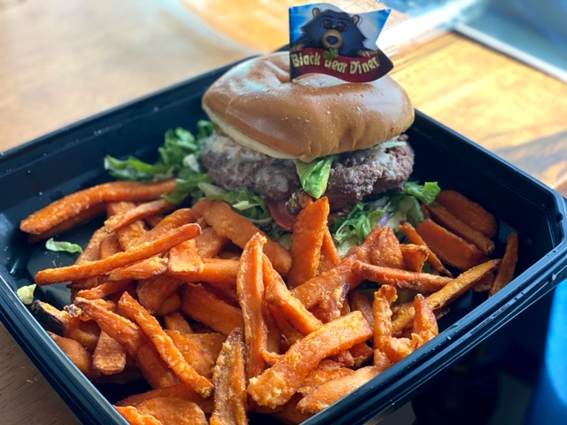 California Burger at the Black Bear Diner