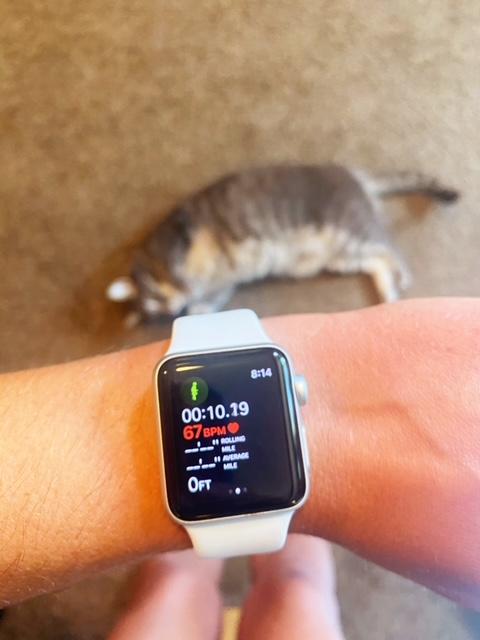 apple 3 series watch running