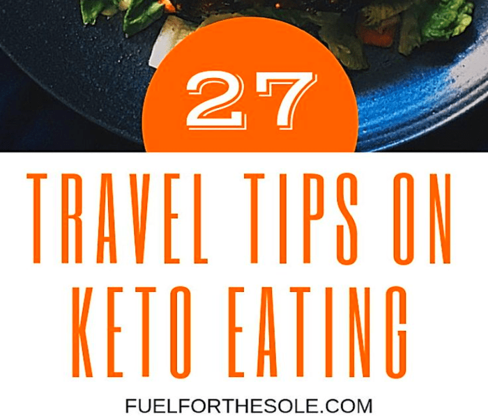 traveling on low carb diet