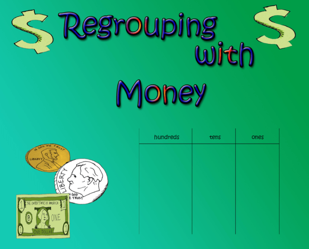 Subtraction Regrouping With Money