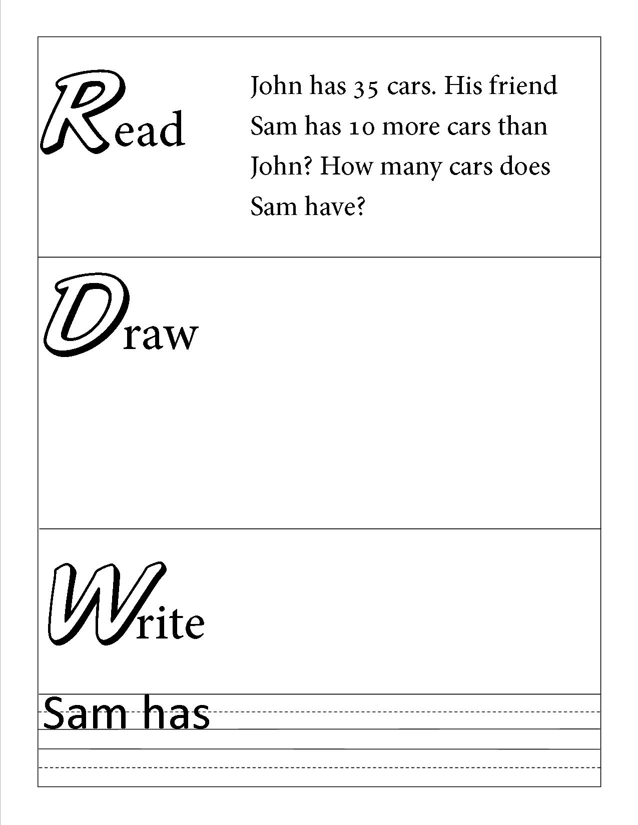 Read Draw Write Primary Paper Template