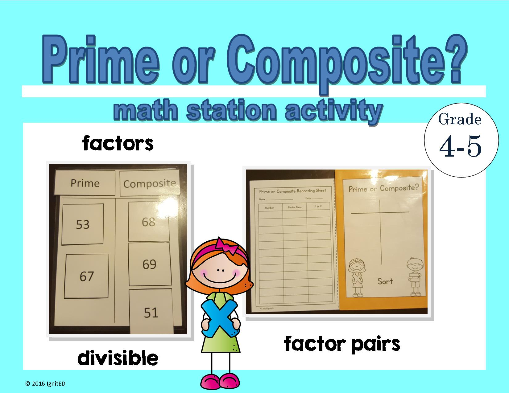 Prime Or Composite Math Station Activity