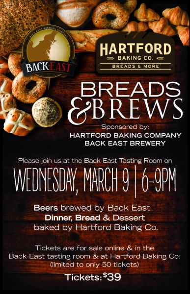 Hartford Baking Company - Breads and Brews Flyer