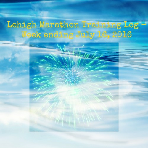 Lehigh Marathon Training - Week Ending July 16, 2016