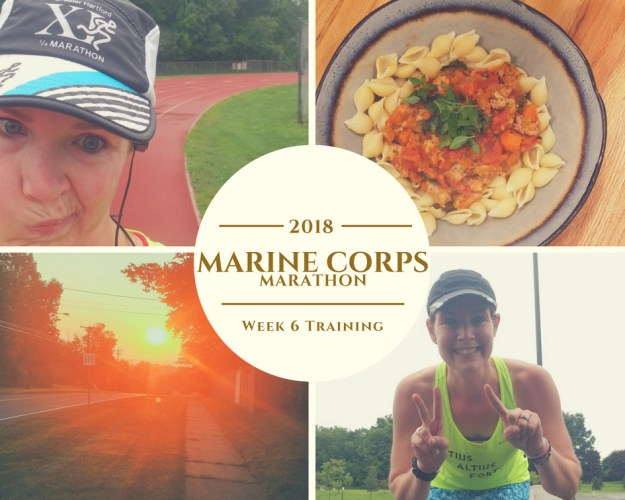 Marine Corps Marathon Training - Week 6