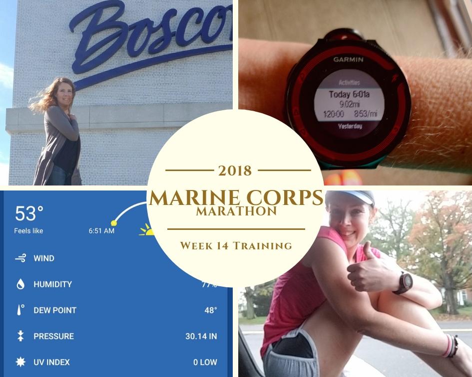 Marine Corps Marathon Training Week 14