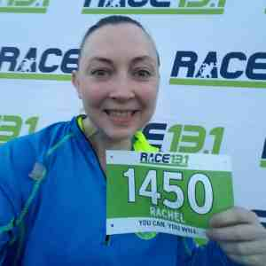 Pre Race 13.1 - Posing with my bib