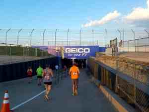 Entrance to race track