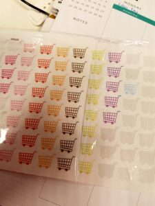 grocery cart stickers