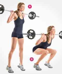 Squat with weight bar