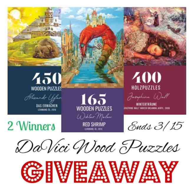 DaVici Wood Puzzles Giveaway