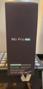 OPOVE M3 Pro Max Massage Gun - side of box
