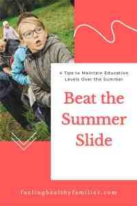 Beat the Summer Slide pin