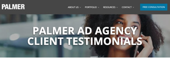 client testimonials for ad agency new business