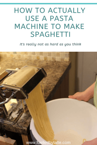 How to actually use a pasta machine to make spaghetti