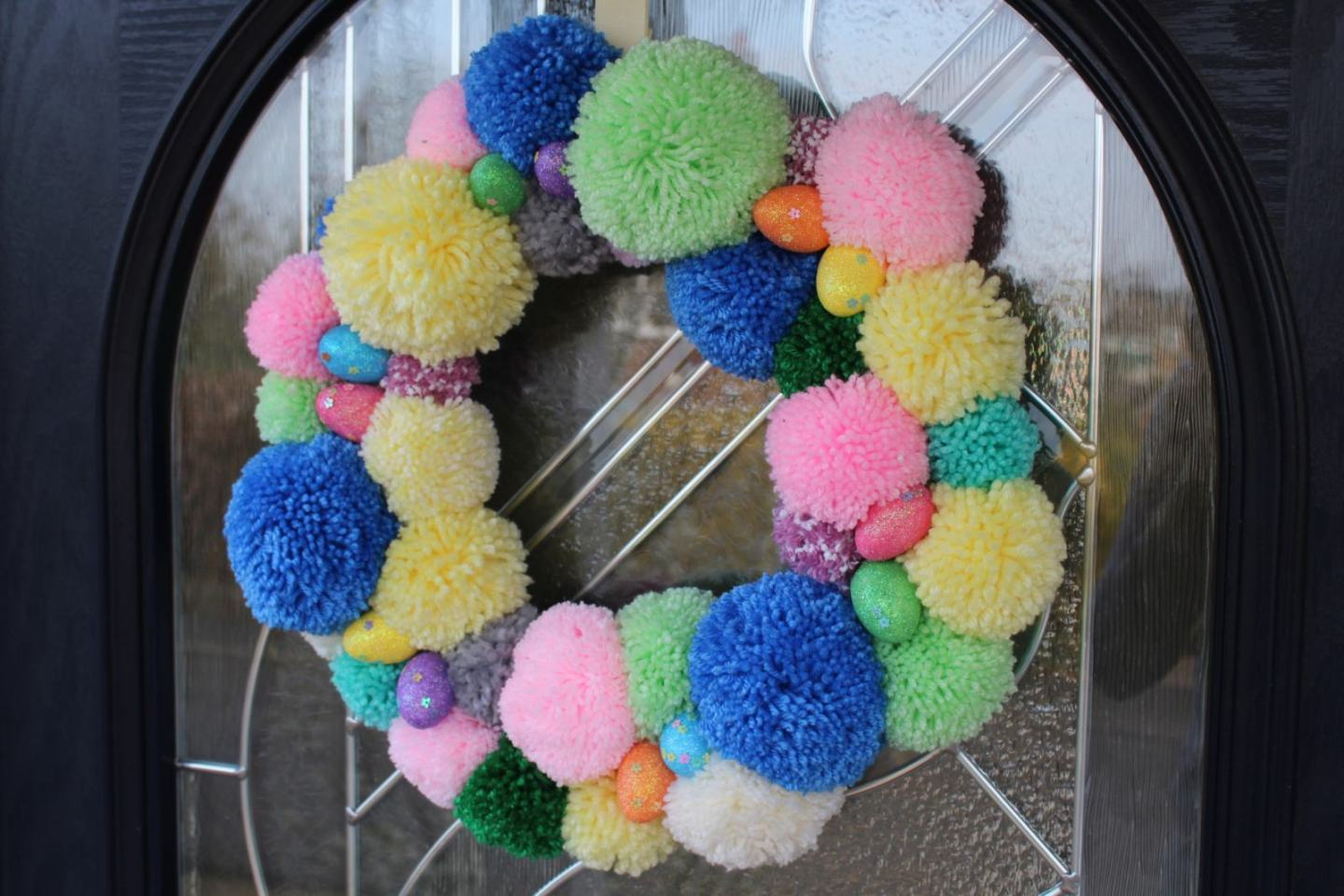 Easter Pom Pom Wreath