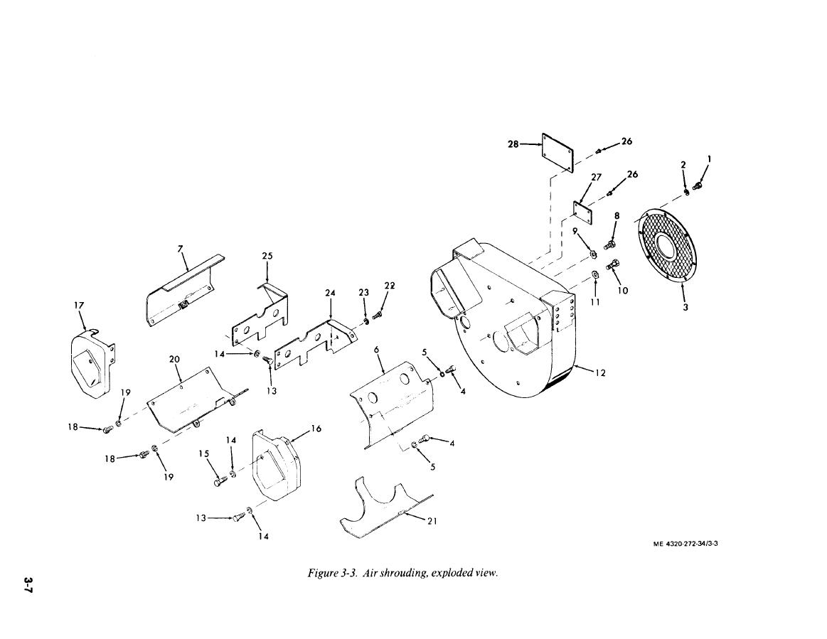 Figure 3 3 Air Shrouding Exploded View