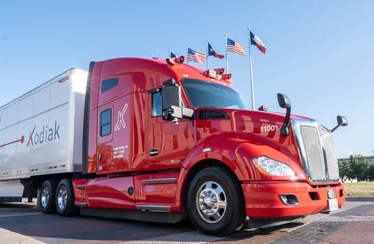 Self-Driving Truck Startup Kodiak Robotics Begins First Freight Deliveries