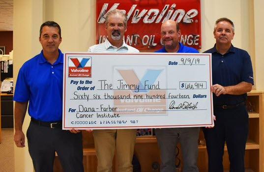 Valvoline Instant Oil Change Raises Over $66,500 for Cancer Research and Patient Care