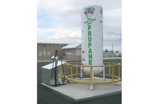 U-Haul Filling Propane Tanks, Autogas Vehicles in Wyoming