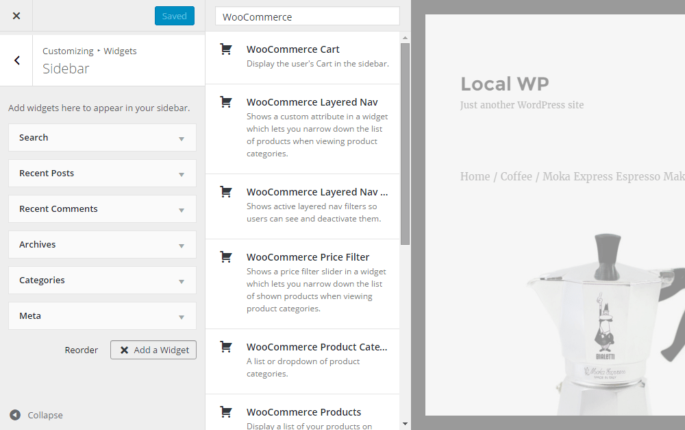 WordPress E-Commerce Widgets