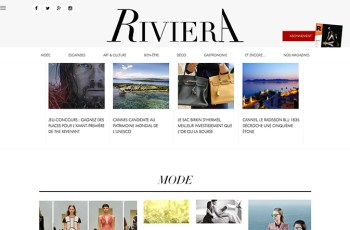 Riviera Magazine WordPress Theme