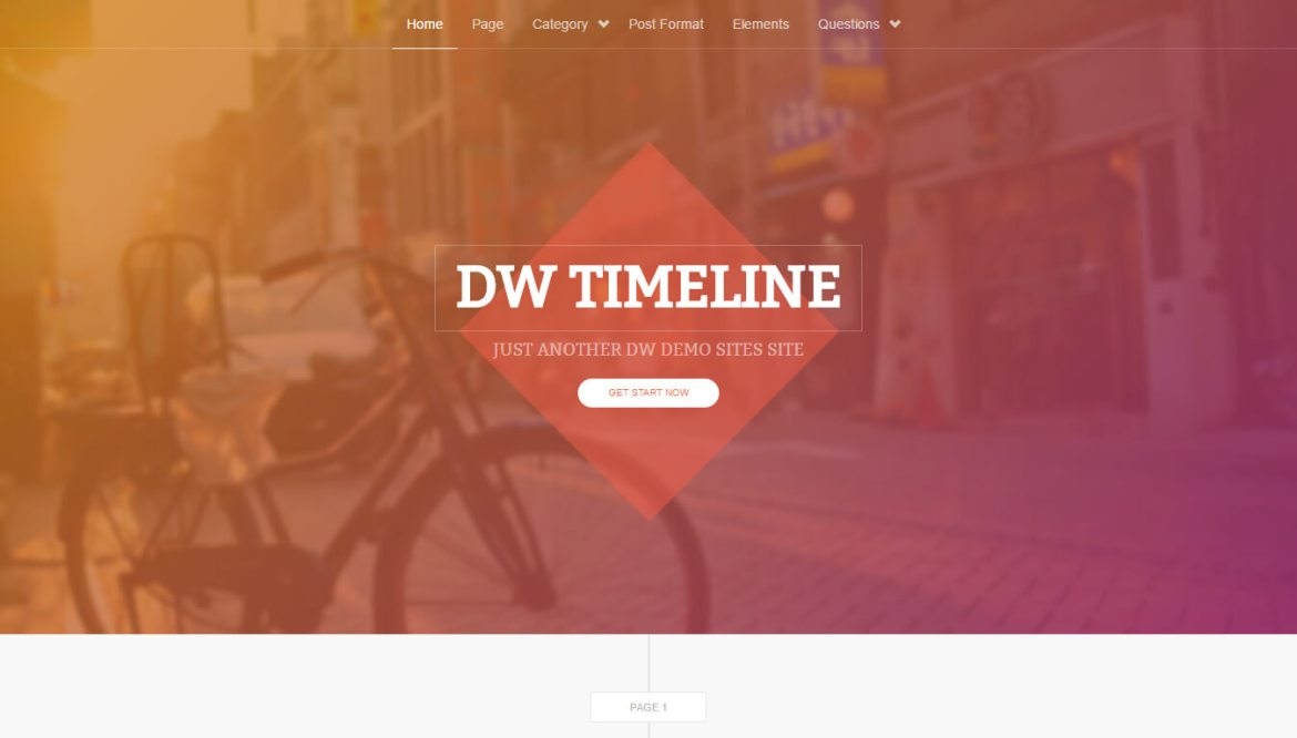 WordPress portfolio themes: Timeline