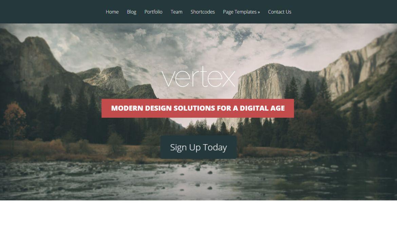 WordPress portfolio themes: Vertex