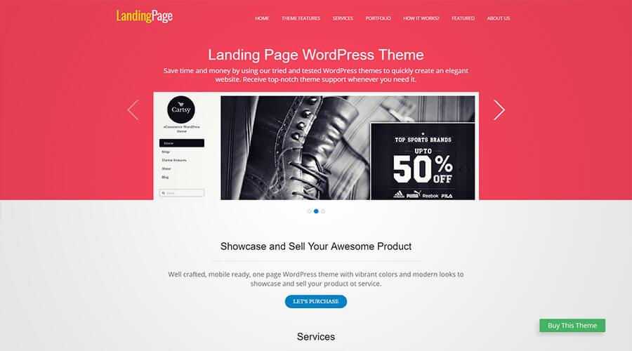 WordPress One Page Themes: Landing Page